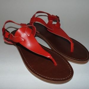 Red/Brown Mossimo Women Sandals Size 8